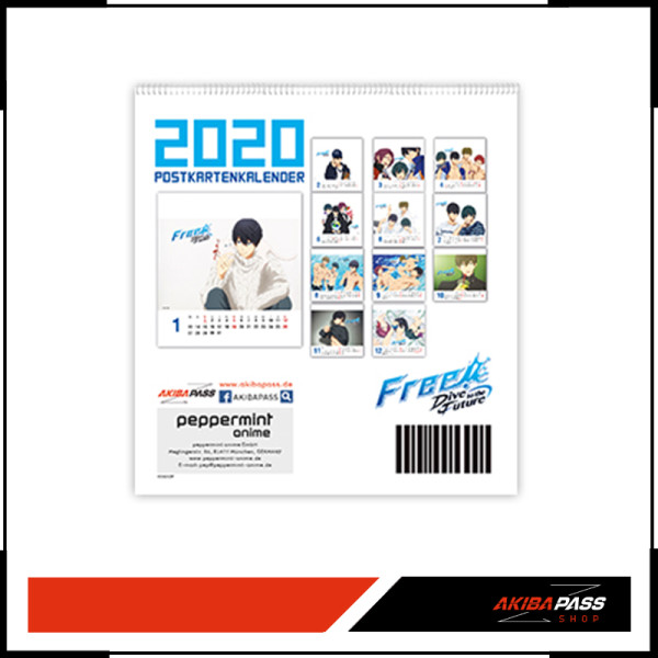 Free! Dive to the Future - Postkartenkalender 2020
