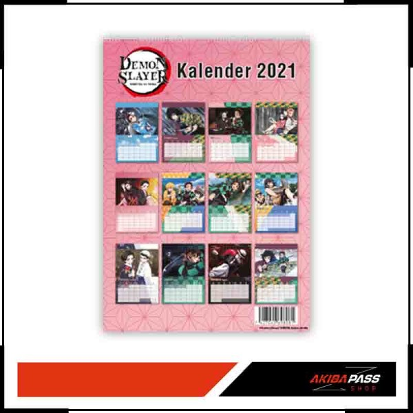 Demon Slayer - Wandkalender 2021